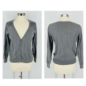 Torrid Grey Button Front Cardigan Size 0 - H101